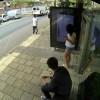 Photoshop ao vivo em paragem de autocarro