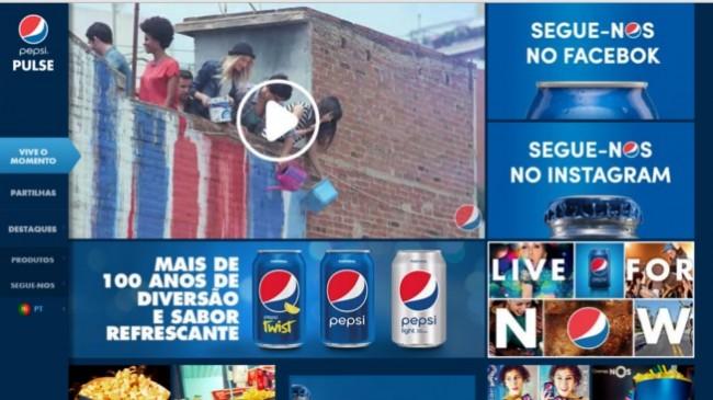Pepsi lança plataforma online em Portugal