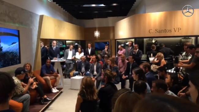 Cristina Amaro, Garrett McNamara e Nelson Évora inauguram loja da Mercedes-Benz