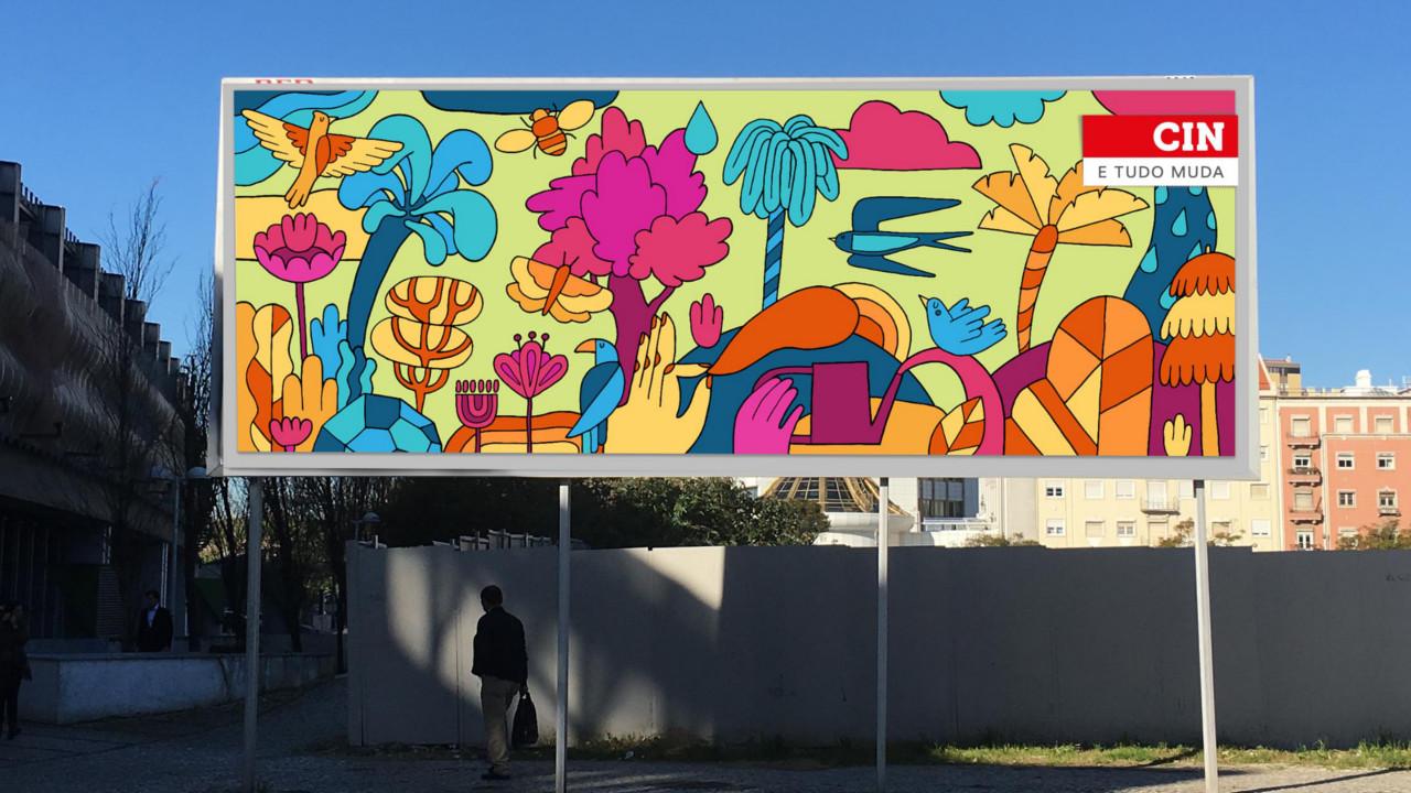 Portugueses pintam Lisboa para o dia internacional da cor