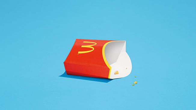 Só ficaram as migalhas neste anúncio da McDonald's